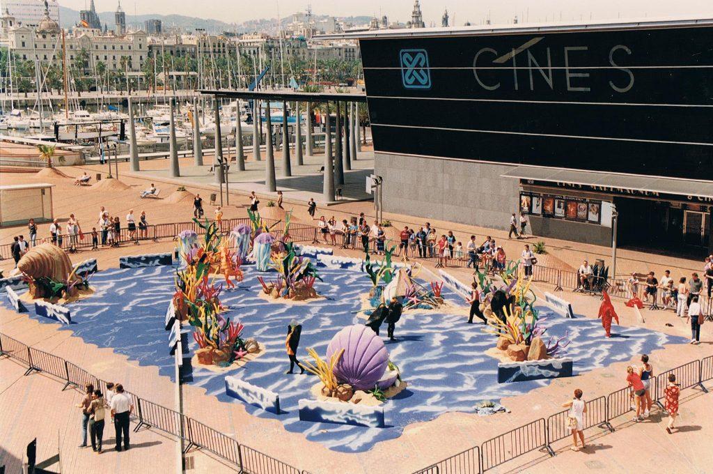 — Opening The Little Mermaid, Maremagnum, Barcelona