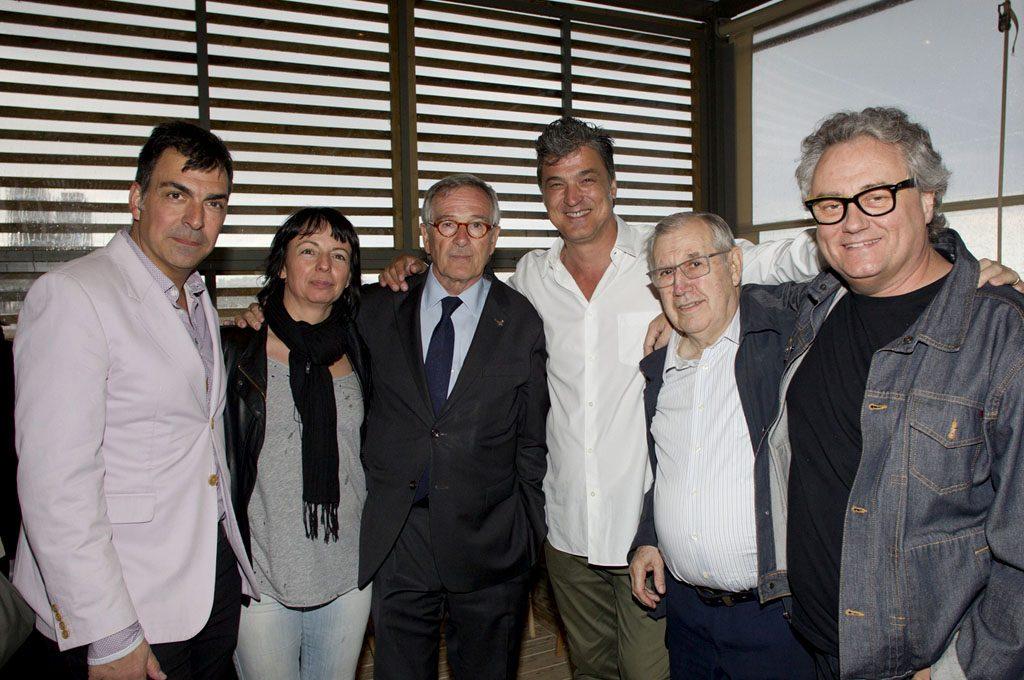 — Inauguración La Guingueta, 2014. Ramó Freixa, Fina Puigdevall, Xavier Trias, Carles Abellán, Escribà