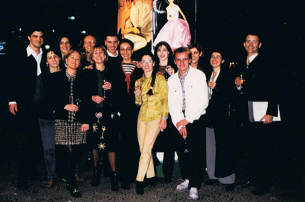 — Chef Carles Abellán, Artist Lali Canosa, RRPP Cuca Guixeras, Choreograph and dancer Lola Puentes, Stylist Daniela García, Joan Madurell, among others, celebrating the success of the act.